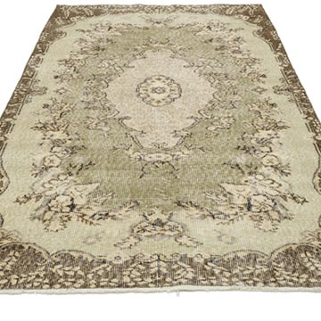"""Vintage Turkish Hand-Knotted Rug - 3' 11"""" x 6' 11"""" (47 in. x 83 in.) - K0056800"""