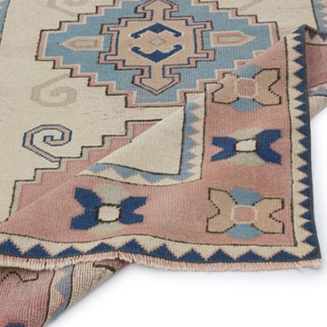 """Vintage Turkish Hand-Knotted Rug - 4'  x 6' 5"""" (48 in. x 77 in.) - K0056807"""
