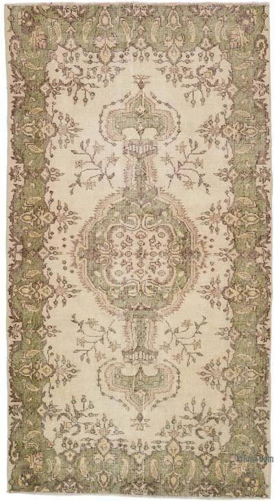 """Vintage Turkish Hand-Knotted Rug - 3' 8"""" x 6' 8"""" (44 in. x 80 in.)"""
