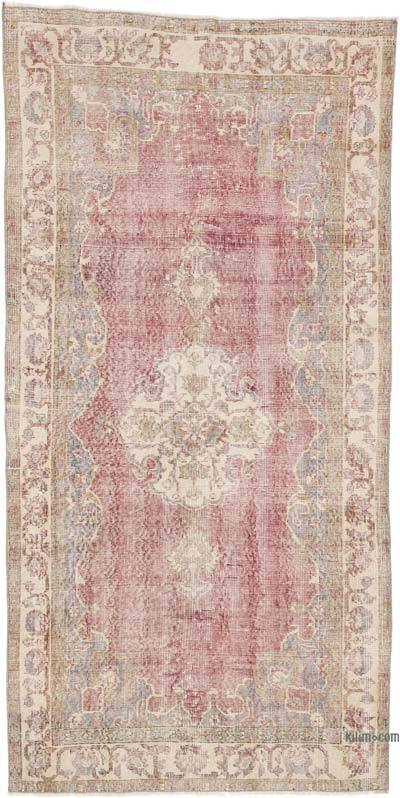 """Vintage Turkish Hand-Knotted Rug - 3' 8"""" x 7' 5"""" (44 in. x 89 in.)"""