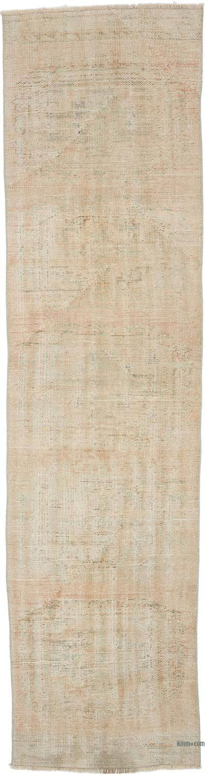 """Vintage Turkish Hand-Knotted Runner - 2' 9"""" x 10' 6"""" (33 in. x 126 in.)"""