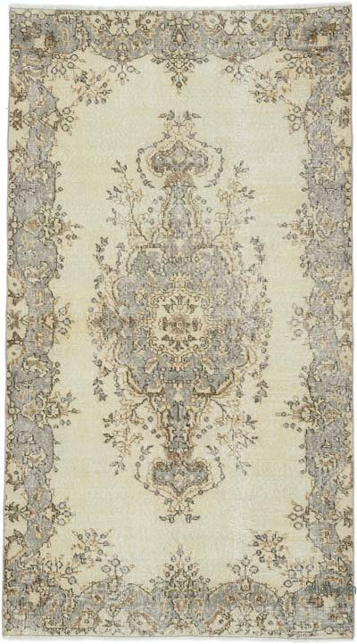 """Vintage Turkish Hand-Knotted Rug - 3' 10"""" x 6' 9"""" (46 in. x 81 in.)"""