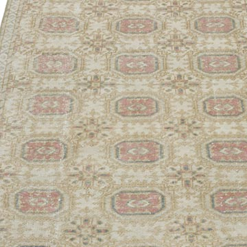 """Vintage Turkish Hand-Knotted Runner - 2' 2"""" x 9' 8"""" (26 in. x 116 in.) - K0056818"""