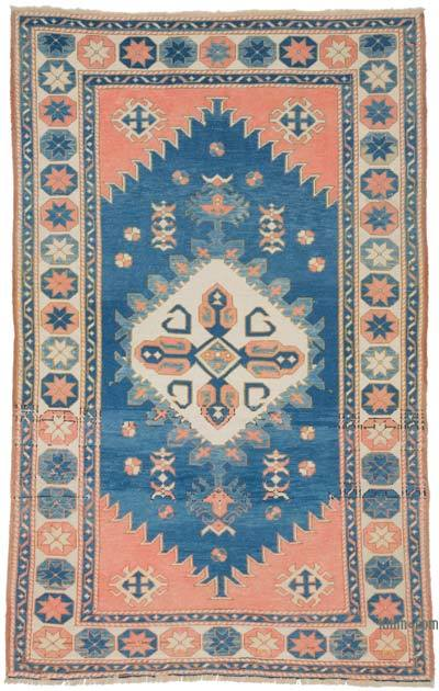 """Vintage Turkish Hand-Knotted Rug - 4' 6"""" x 7'  (54 in. x 84 in.)"""