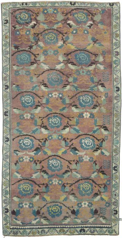 """Vintage Turkish Hand-Knotted Rug - 3' 1"""" x 5' 11"""" (37 in. x 71 in.)"""