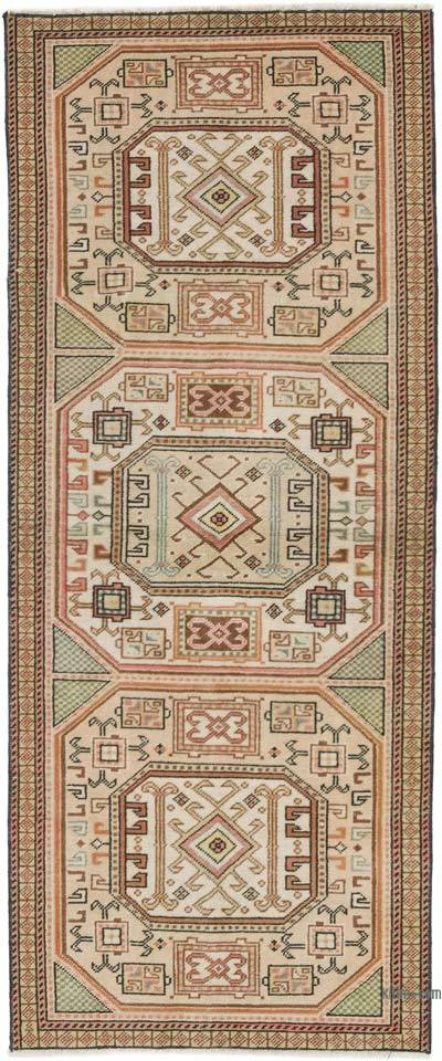 """Vintage Turkish Hand-Knotted Rug - 2' 1"""" x 5' 1"""" (25 in. x 61 in.)"""