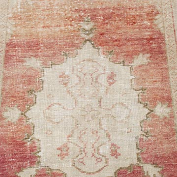 """Vintage Turkish Hand-Knotted Rug - 2' 5"""" x 4' 10"""" (29 in. x 58 in.) - K0056830"""