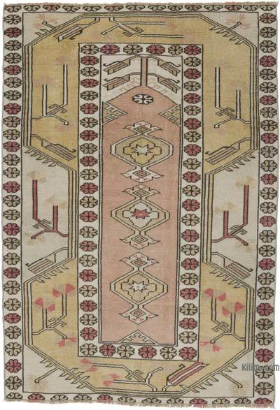 """Vintage Turkish Hand-Knotted Rug - 3' 5"""" x 4' 11"""" (41 in. x 59 in.)"""