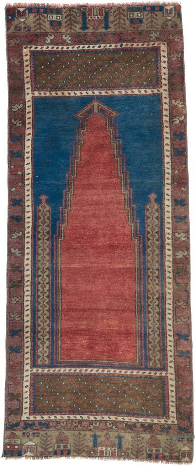 """Vintage Turkish Hand-Knotted Rug - 2' 6"""" x 5' 10"""" (30 in. x 70 in.)"""