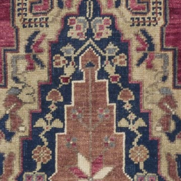 """Vintage Turkish Hand-Knotted Runner - 1' 9"""" x 6' 2"""" (21 in. x 74 in.) - K0056834"""