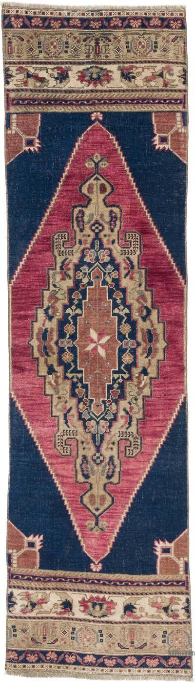 """Vintage Turkish Hand-Knotted Runner - 1' 9"""" x 6' 2"""" (21 in. x 74 in.)"""