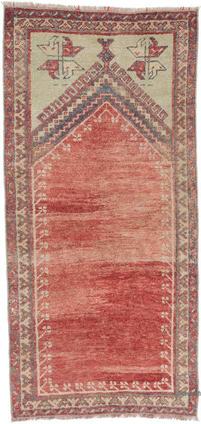 """Vintage Turkish Hand-Knotted Rug - 2' 6"""" x 5' 3"""" (30 in. x 63 in.)"""