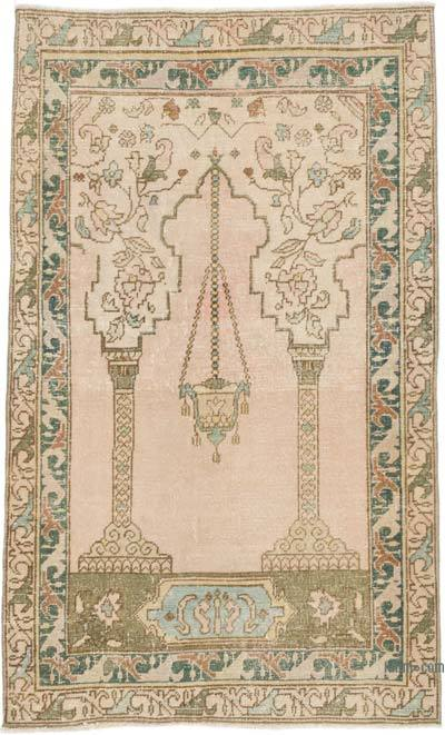 """Vintage Turkish Hand-Knotted Rug - 3' 3"""" x 5' 5"""" (39 in. x 65 in.)"""