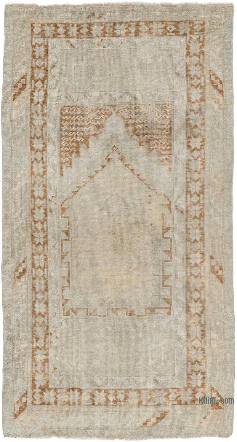 """Vintage Turkish Hand-Knotted Rug - 3' 2"""" x 5' 10"""" (38 in. x 70 in.) - K0056840"""