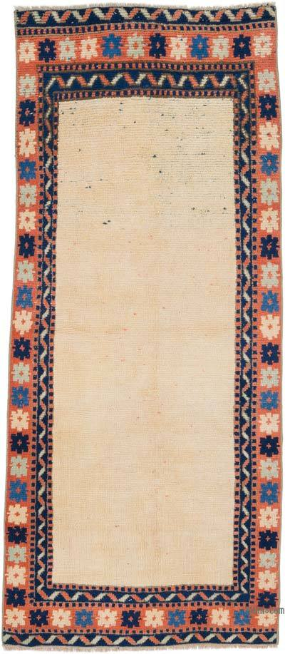 """Vintage Turkish Hand-Knotted Rug - 2' 5"""" x 5' 6"""" (29 in. x 66 in.)"""