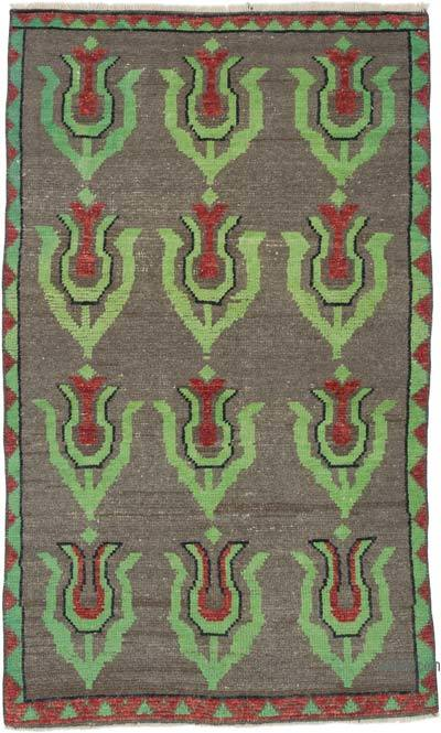 """Vintage Turkish Hand-Knotted Rug - 2' 9"""" x 4' 5"""" (33 in. x 53 in.)"""