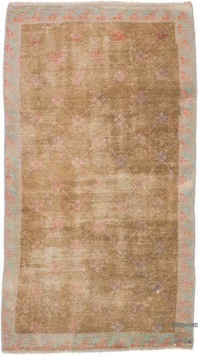El Dokuma Vintage Halı - 78 cm x 139 cm