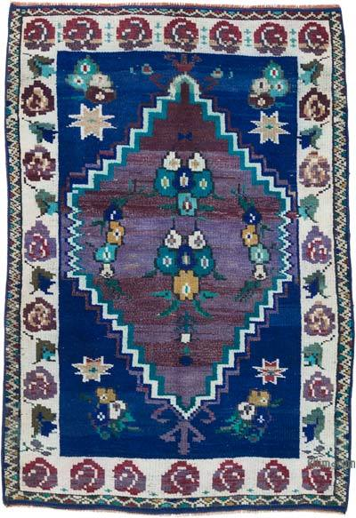 """Vintage Turkish Hand-Knotted Rug - 3' 2"""" x 4' 6"""" (38 in. x 54 in.)"""