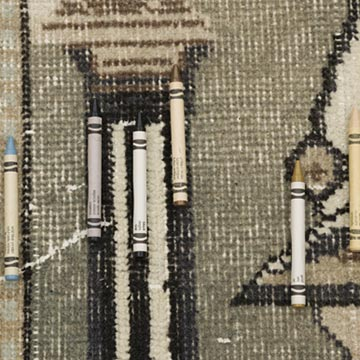 """Vintage Turkish Hand-Knotted Rug - 2' 5"""" x 4' 2"""" (29 in. x 50 in.) - K0056850"""