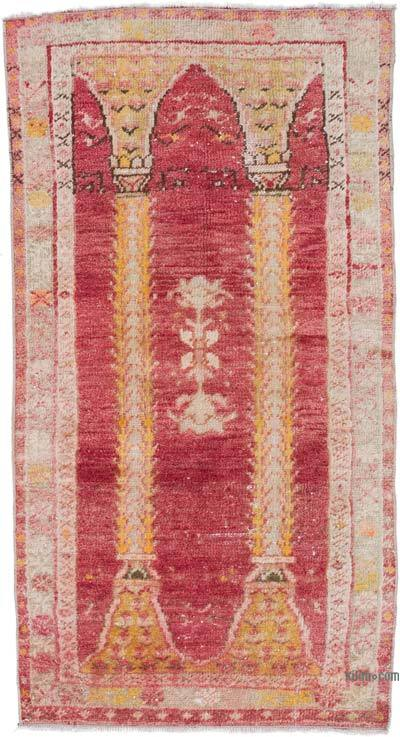 """Vintage Turkish Hand-Knotted Rug - 2' 4"""" x 4' 3"""" (28 in. x 51 in.)"""