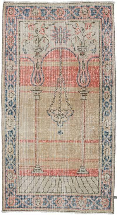 """Vintage Turkish Hand-Knotted Rug - 2' 4"""" x 4' 5"""" (28 in. x 53 in.)"""