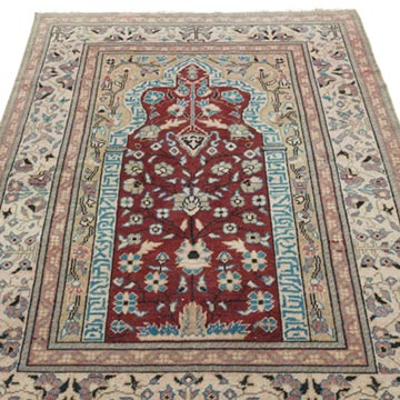 """Vintage Turkish Hand-Knotted Rug - 2' 11"""" x 4' 7"""" (35 in. x 55 in.) - K0056857"""