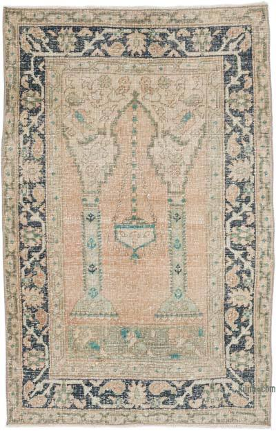 """Vintage Turkish Hand-Knotted Rug - 2' 11"""" x 4' 5"""" (35 in. x 53 in.)"""