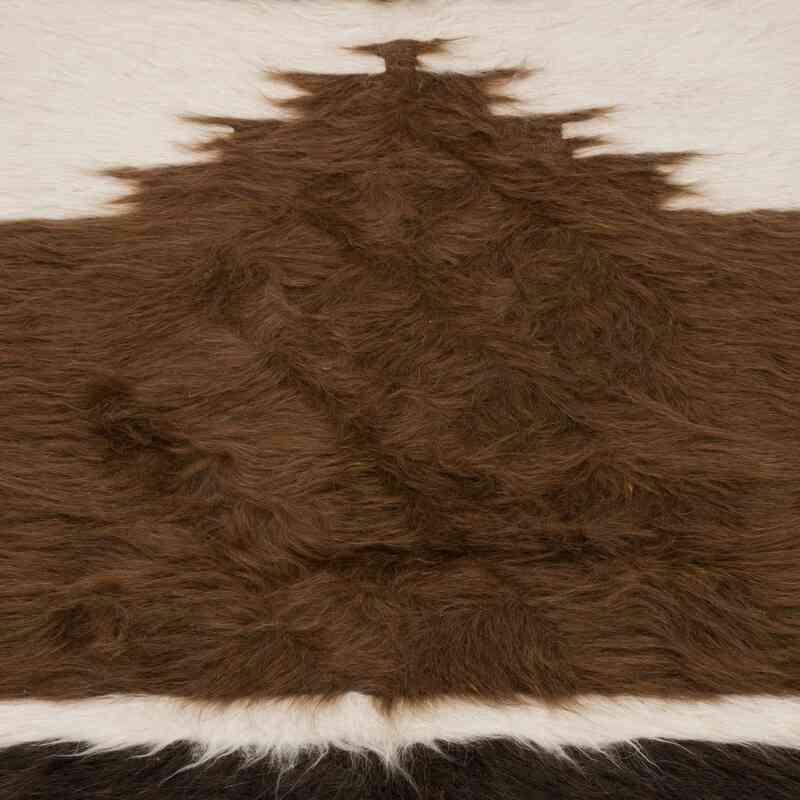 """Brown, Beige Vintage Siirt Rug - 2' 7"""" x 3' 11"""" (31 in. x 47 in.) - K0056872"""