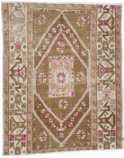 """Vintage Turkish Hand-Knotted Rug - 5' 7"""" x 7' 1"""" (67 in. x 85 in.)"""