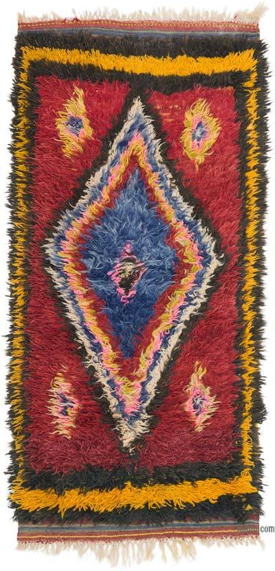 Çok Renkli Vintage Anadolu Tülü - 96 cm x 198 cm