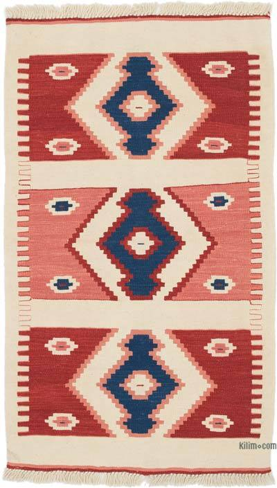 """New Handwoven Turkish Kilim Rug - 2' 8"""" x 4' 6"""" (32 in. x 54 in.)"""