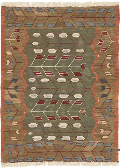 """New Handwoven Turkish Kilim Rug - 3'  x 3' 11"""" (36 in. x 47 in.)"""