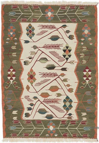 """New Handwoven Turkish Kilim Rug - 2' 11"""" x 4' 2"""" (35 in. x 50 in.)"""