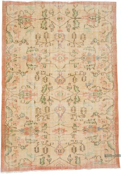 """Vintage Turkish Hand-Knotted Rug - 5' 11"""" x 8' 4"""" (71 in. x 100 in.)"""
