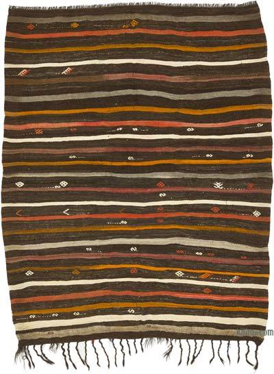 Kahverengi Vintage Anadolu Kilim - 222 cm x 277 cm