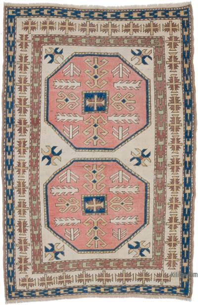 """Vintage Turkish Hand-Knotted Rug - 4' 3"""" x 6' 6"""" (51 in. x 78 in.)"""