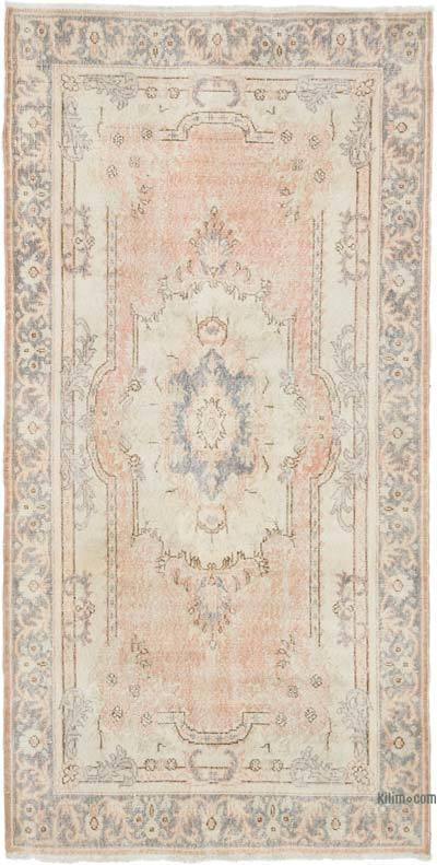 """Vintage Turkish Hand-Knotted Rug - 4' 1"""" x 8' 1"""" (49 in. x 97 in.)"""