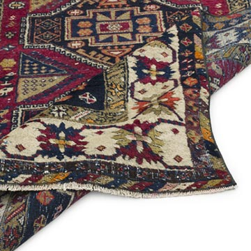 """Vintage Turkish Hand-Knotted Rug - 3' 10"""" x 9' 10"""" (46 in. x 118 in.) - K0056923"""