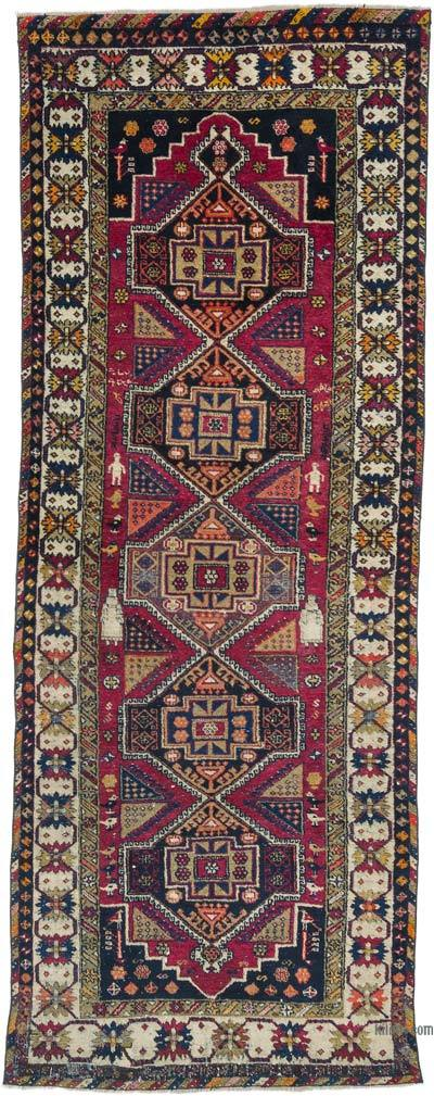 """Vintage Turkish Hand-Knotted Rug - 3' 10"""" x 9' 10"""" (46 in. x 118 in.)"""