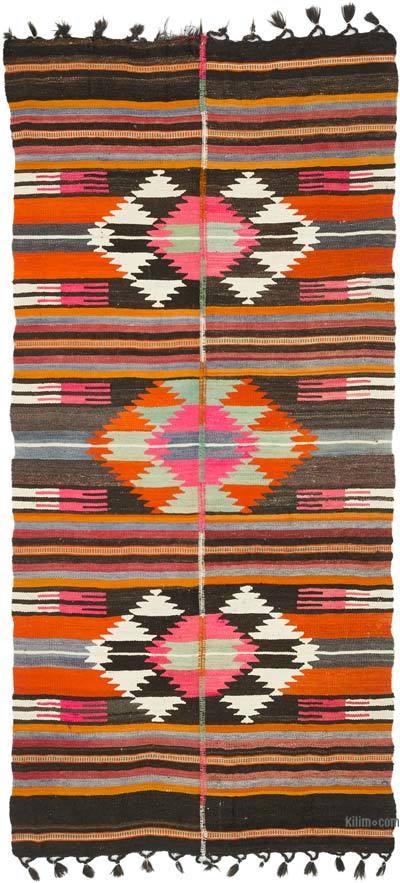 Alfombra Vintage Kilim Turca - 142 cm x 298 cm