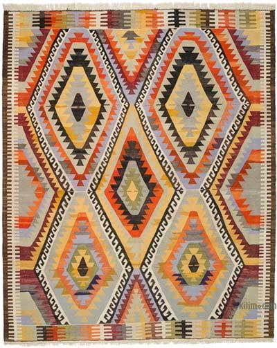 Çok Renkli Yeni Kök Boya El Dokuma Kilim - 282 cm x 346 cm