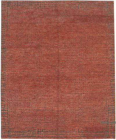 """New Hand-Knotted Rug - 7' 4"""" x 11'  (88 in. x 132 in.)"""