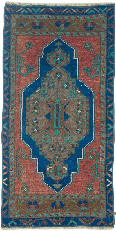 """Vintage Turkish Hand-Knotted Rug - 1' 8"""" x 3' 2"""" (20 in. x 38 in.)"""