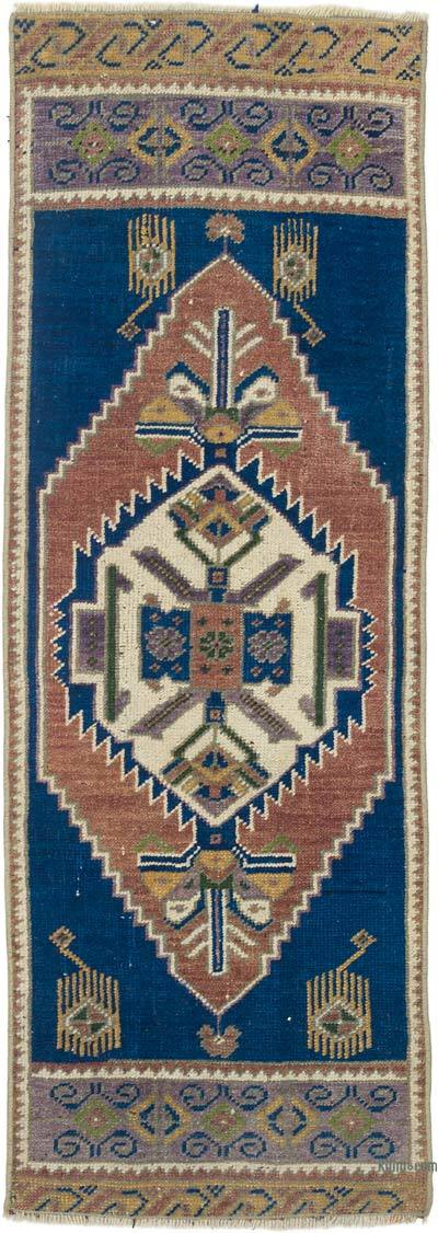 """Vintage Turkish Hand-Knotted Rug - 1' 5"""" x 3' 11"""" (17 in. x 47 in.)"""
