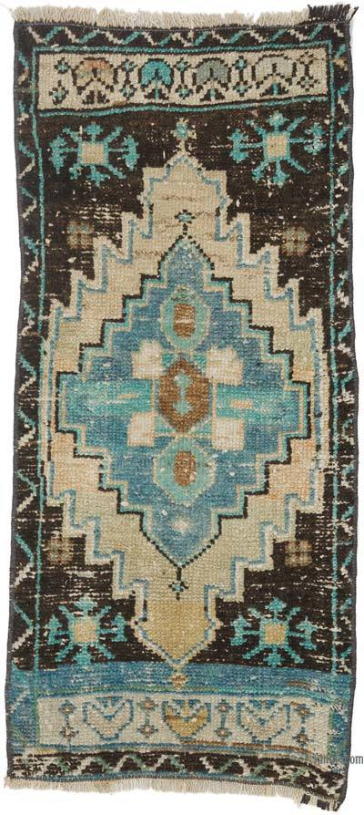 """Vintage Turkish Hand-Knotted Rug - 1' 3"""" x 2' 9"""" (15 in. x 33 in.)"""