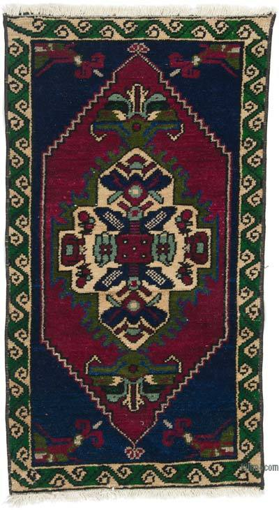 """Vintage Turkish Hand-Knotted Rug - 1' 7"""" x 2' 9"""" (19 in. x 33 in.)"""
