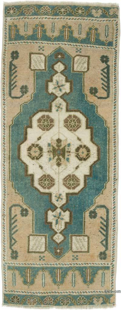 """Vintage Turkish Hand-Knotted Rug - 1' 5"""" x 3' 7"""" (17 in. x 43 in.)"""