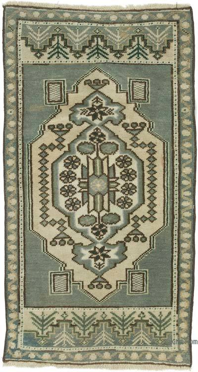 """Vintage Turkish Hand-Knotted Rug - 1' 9"""" x 3' 3"""" (21 in. x 39 in.)"""