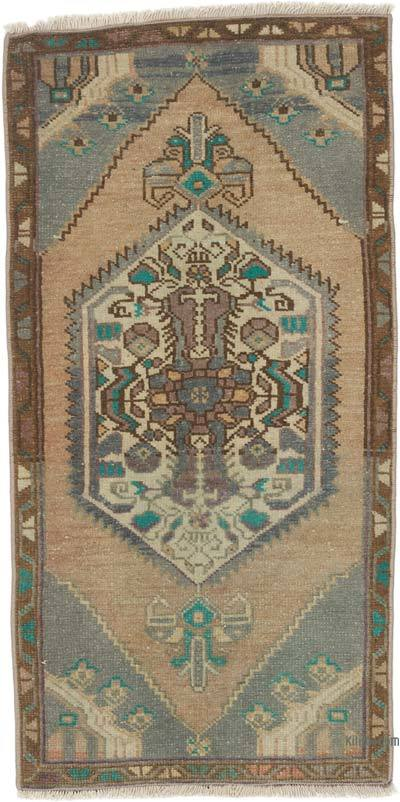 """Vintage Turkish Hand-Knotted Rug - 1' 8"""" x 3' 3"""" (20 in. x 39 in.)"""