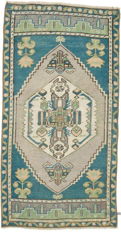 """Vintage Turkish Hand-Knotted Rug - 1' 10"""" x 3' 6"""" (22 in. x 42 in.)"""